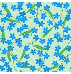forget me not seamless background vector image vector image