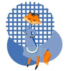 Fox in a dress vector