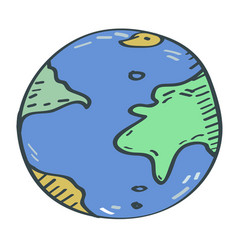 globe cartoon vector image