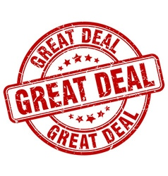 great deal stamp vector image