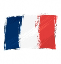 grunge France flag vector image