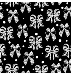 hand-drawn doodle seamless pattern with bows vector image