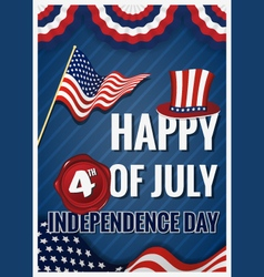 HAPPY 4th OF JULY INDEPENDENCE DAY Greeting Card vector