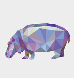 Hippopotamus low polygon vector
