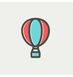 Hot air balloon thin line icon vector