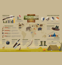 Hunting open season infographics vector