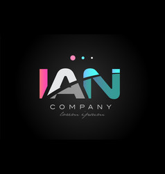 ian i a n three letter logo icon design vector image