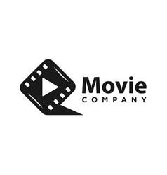 initial film logo design q vector image