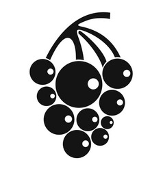 Isabella grapes icon simple style vector