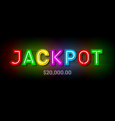 Jackpot broadway style bright banner with winning vector