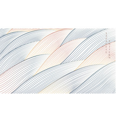 Japanese background with line pattern ocean sea vector