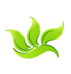Leaf environmental plant icon symbol vector