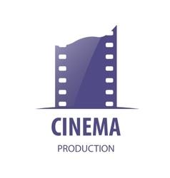 logo cinema vector image