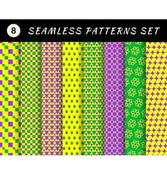 mardi gras seamless patterns carnival backgrounds vector image
