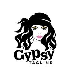 Modern beautiful gypsy logo vector