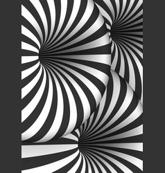 Optical spiral tunnel hole effect striped 3d vector