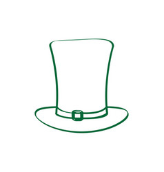 patrick day hat outline vector image