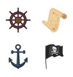 Pirate bandit rudder flag pirates set vector