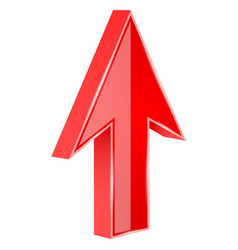 Red arrow 3d up sign vector