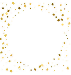 Round gold frame or border of random scatter vector