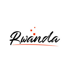 Rwanda country typography word text for logo icon vector