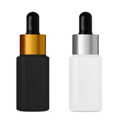 serum dropper bottle with pipette cosmetic oil vector image