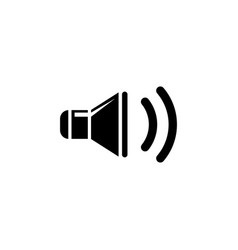sound speaker flat icon vector image