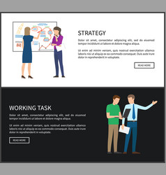 Strategy work task collection vector
