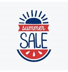 Summer sale badge vector image