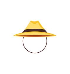 summer season hat icon vector image