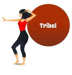 Tribal dancer in cartoon style vector