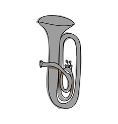 tuba instrument icon image vector image