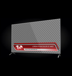 tv realistic flat screen lcd with news bars vector image
