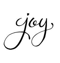 Unique hand drawn lettering of the word Joy vector image