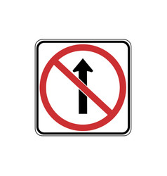 usa traffic road signsdo not drive straight vector image