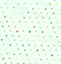 Vintage Polka Dots but Triangles in vector image