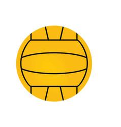 Water polo ball vector