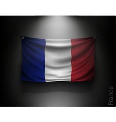 waving flag france on a dark wall vector image