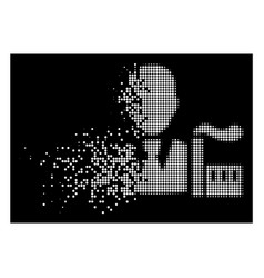White shredded dotted halftone industry capitalist vector