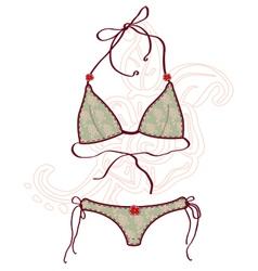 Women bathing suits vector