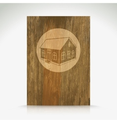 Wood with house pattern vector image