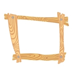 Wooden cartoon frame vector