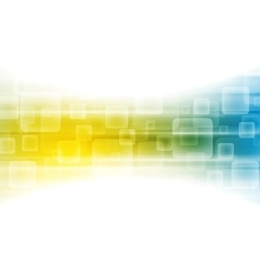 Yellow blue shiny tech background vector image