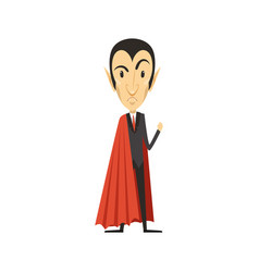 count dracula angry vampire in suit and red cape vector image