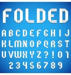 Folded Paper Font vector image