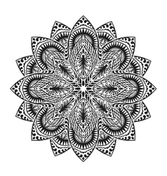 Mandala Oriental pattern islam arabic Indian vector image