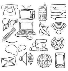 sketch communication images vector image