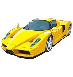 Yellow sports car vector image
