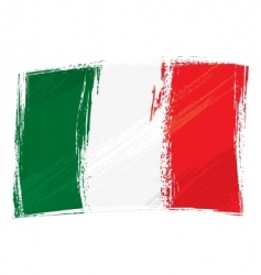 Grunge italy flag vector