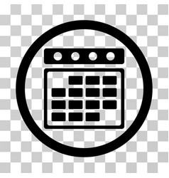 month calendar rounded icon vector image vector image